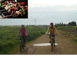 טיול אופניים לזוג+ ארוחת בשרית