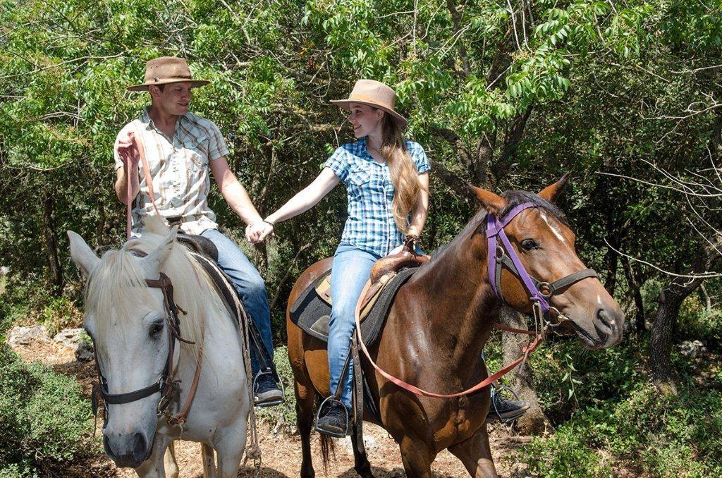 טיול סוסים זוגי רומנטי